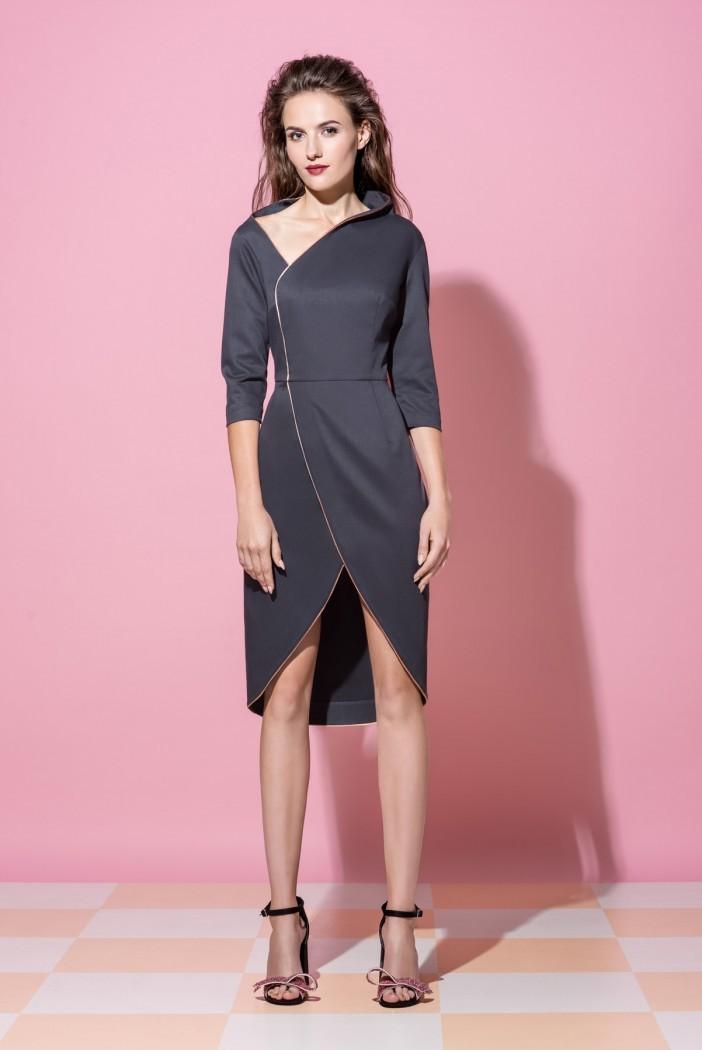 c7d813b28d0 Платье на запах Vikki c открытым плечем - Интернет-магазин одежды ...